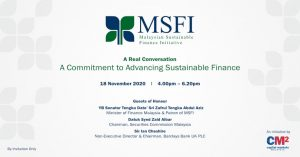 A Commitment to advancing Sustainable Finance