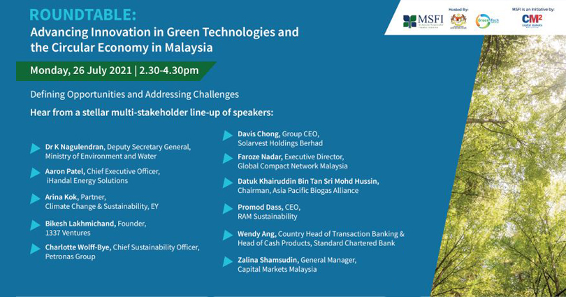 Roundtable: Advancing Innovation in Green Technologies and the Circular Economy in Malaysia